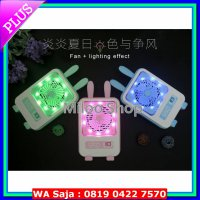#Kipas Angin Listrik Kipas angin mini USB/mini fan portable karakter plus lampu