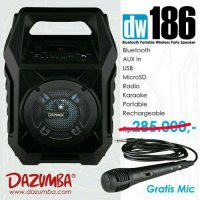 Speaker Aktif Portable bluetooth and radio Dazumba DW186 dazumba 186