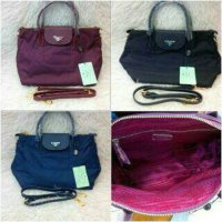 Tas Prada model longchamp high quality. ori leather