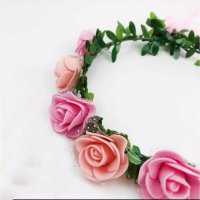 Flower Crown Peach Pink