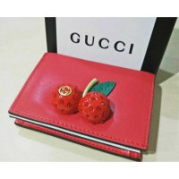 dompet gucci cherry red lambskin. mirror high quality