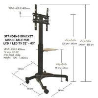 Standing Bracket Kz-52 For Flat Tv 32In - 63In HargaPrommo07