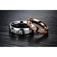 Cincin couple stainless steel Elegant Style - ICCR1001