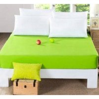 sprei jaxine waterproof polos green lime 180x200 ( 2 set BG)