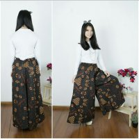 Cj collection Celana kulot batik panjang wanita jumbo long pant Nirna