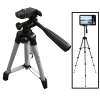 Weifeng Portable Tripod Stand 4-Section Aluminum Legs Brace 3 way