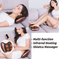 Spesial Car & Home Massage Pillow - Bantal Pijat Leher Punggung Kaki Portable Limited