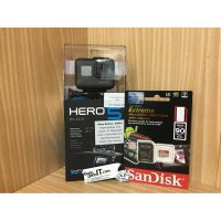 Paket Camera GoPro Hero 5 Black + MicroSD Sandisk EXTREME CL10 16GB
