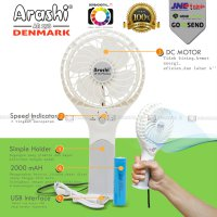 Kipas Angin/ Fan Mini Portabel Arashi AR-138 Emergency FAN 4 Inch(DEN)