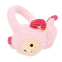Animal characters earplugs - Pink Sheep / children toy / doll / character plush doll / Winter Accessories / supple / earplug