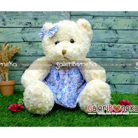 Boneka Teddy Bear Dress Pita Imut