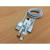 Cable/Kabel Magnetic 2 in 1 Lightning & Micro USB For Android & Apple