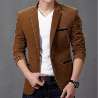 JAS BLAZER WILLY BROWN SC blazer pria katun strecth coklat KMS