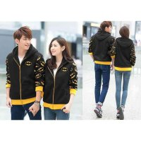 Couple Jaket Batman Hitam LO jaket couple batman babyterry hitam KMS