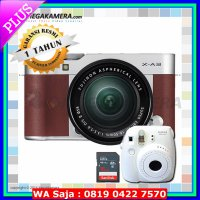 READY Fujifilm / Fuji X-A3 / XA3 Kit 16-50mm Kamera Mirrorless - Brown