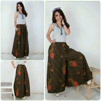 Cj collection Celana batik kulot panjang wanita jumbo long pant Salwa