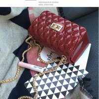 clutch pesta fashion bag jelly rubber 21080 glossybag tas import simple elegan partybag kondangan wm fashionis