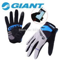 [globalbuy] Giant Mountain Bike Racing Gloves Touch Screen Full Finger cycling glove motoc/1780948