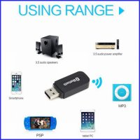 BLUETOOTH RECEIVER ADAPTER SPEAKER AUDIO DONGLE MUSIC WIRELESS USB AUX