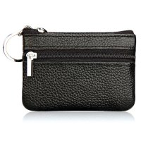 Dompet Pouch Kulit Elegan Single Zipper Black