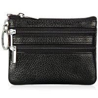 Dompet Pouch Kulit Elegan Double Zipper Black