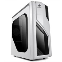 CUBE GAMING UXARA WHITE - 12CM LED FAN + USB 3.0