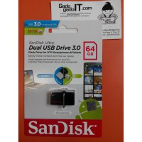 USB OTG Flashdisk SanDisk Ultra Dual Drive USB 3.0 64GB Speed 130MB/s