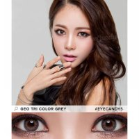 New Softlens Geo Tri Color Gray (Abu-Abu) - Cm-901 -Original 100%-Terlaris