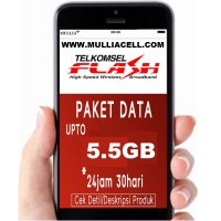 Telkomsel Flash Data Up to 5.5GB (4.8GB - 5.5GB + 1GB + 3GB) BACA Deskripsi [MULLIACELL]