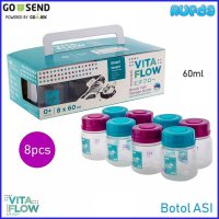 VitaFlow Botol ASI 60ml 8pcs Breastmilk Bottle Murah BPA Free