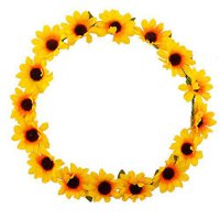 [poledit] Lux Accessories Sunflower Floral Flower Yellow Head Hair Crown (T1)/14264689
