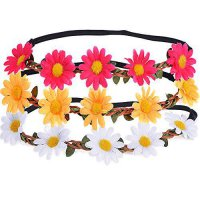 [poledit] EBoot eBoot 3 Pieces Daisy Flower Headband Crown with Adjustable Elastic Ribbon /14264597