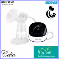 Malish Celia Rechargeable Single Electric Breast Pump Pompa ASI