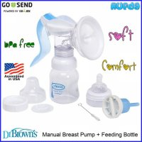 Dr Brown's Manual Breast Pump Pompa ASI Breastpump Browns