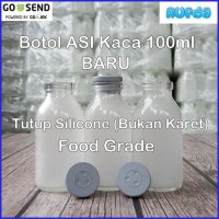 Botol ASI Kaca Model Vial Tutup Silicone 100ml Food Grade