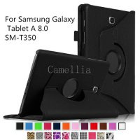 [globalbuy] Rotating Case Cover For Samsung Galaxy Tab A 8.0,Premium Vegan Leather 360 Deg/4145286