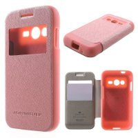 Mercury WOW Bumper Case Samsung Galaxy Core 2 G355H Casing Cover Flip - Pink Muda