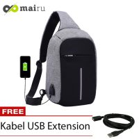 Tas Selempang Anti Maling USB Port XD Sling Bag