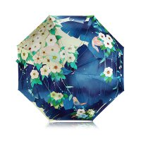 Forest Bird Design Folding Umbrella 98 X 55 Cm - Payung Lipat Motif Lucu Unik Imut Murah