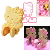 Hello Kitty 3D Cookie Bread Toast Cutter Mold Mama cook cetakan kue HK