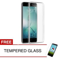Case for Meizu Pro 7 - 5.2 inch - Clear + Gratis Tempered Glass - Ultra Thin Soft Case