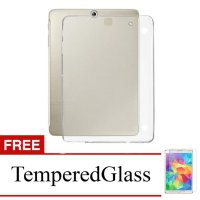Case for Samsung Galaxy Tab S2 9.7' / T810 - Clear + Gratis Tempered Glass - Ultra Thin Soft Case