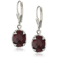 [macyskorea] Amazon Collection 6.21 Carat Dyed Ruby .925 Sterling Silver Earrings/13386047