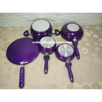 (Bonus 3pcs) Panci set Supra 12pc warna (Ungu) / steame