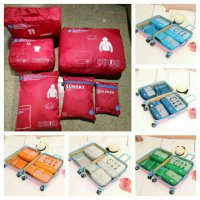 Tas Dalam Koper 6 in 1 Bag in Bag (6pcs) Travel Organizer Bag