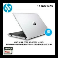 Laptop HP 14-BW013AU AMD A6-9220 4GB 500GB 14' WINDOWS