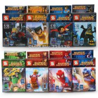 Lego Super Hero Superhero Avengers SY 180 SY180 Superman Batman (8 Box)
