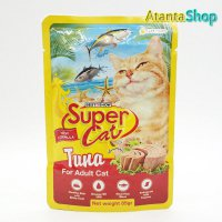 Super Cat - Adult Tuna 85g kornet kucing wet cat food