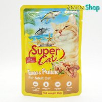 Super Cat - Adult Tuna & Prawn 85g kornet kucing wet cat food
