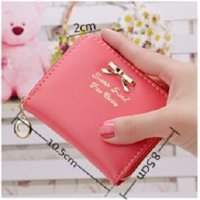 dompet kecil pita new small bow wallet zipper purse Korean bdo019 | OLA